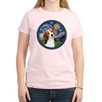 Starry Night Beagle #1 Women's Light T-Shirt