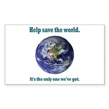 Help save the world Rectangle Sticker 50 pk)