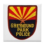 Greyhound Police Tile Coaster