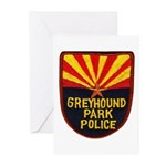 Greyhound Police Greeting Cards (Pk of 10)