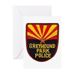 Greyhound Police Greeting Card