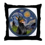 Starry Night Doberman (#1) Throw Pillow