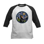 Starry Night Doberman (#1) Kids Baseball Jersey
