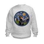 Starry Night Doberman (#1) Kids Sweatshirt