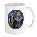 Starry Night Doberman (#1) Large Mug