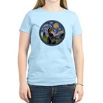 Starry Night Doberman (#1) Women's Light T-Shirt