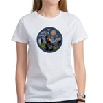 Starry Night Doberman (#1) Women's T-Shirt
