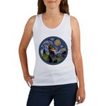 Starry Night Doberman (#1) Women's Tank Top
