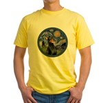 Starry Night Doberman (#1) Yellow T-Shirt