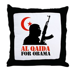 Al Qaida for Obama Throw Pillow