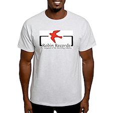 Robin Records Ash Grey T-Shirt