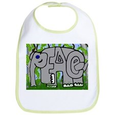 Peace Elephant Bib