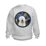 Starry Old English (#3) Kids Sweatshirt