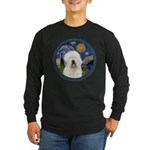 Starry Old English (#3) Long Sleeve Dark T-Shirt