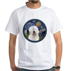 Starry Old English (#3) White T-Shirt