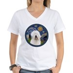 Starry Old English (#3) Women's V-Neck T-Shirt