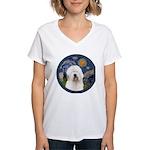 Starry Old English (#3) Women's V-Neck T-Shirt