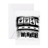 Winner! Slot Machine! Black a Greeting Card
