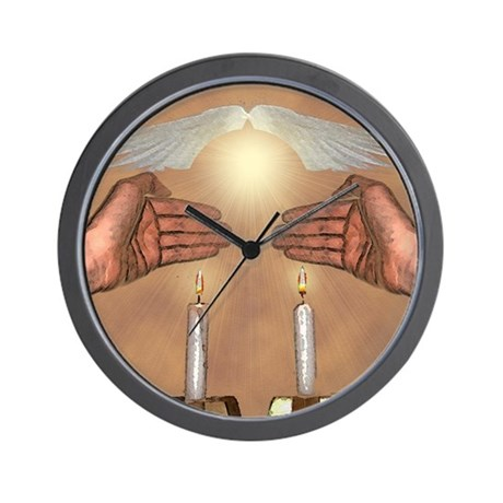 The Lights of the Sabbath Wall Clock