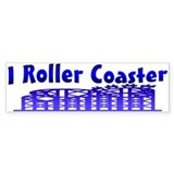 I Roller Coaster Bumper Car Sticker