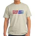 United we stand Republican we Ash Grey T-Shirt