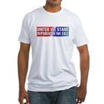 United we stand Republican we Fitted T-Shirt
