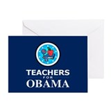 Teachers for Obama Greeting Card