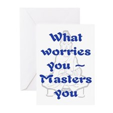 WHAT WORRIES YOU - 2 Greeting Cards (Pk of 20)