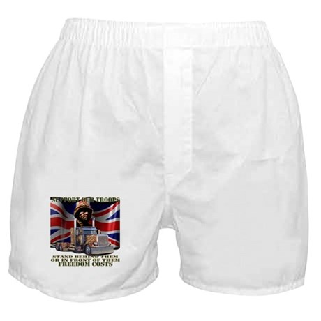 Support Our British Troops Boxer Shorts