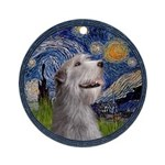 Starry Irish Wolfhound Ornament (Round)