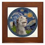 Starry Irish Wolfhound Framed Tile