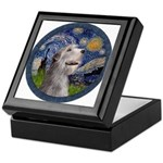 Starry Irish Wolfhound Keepsake Box
