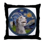 Starry Irish Wolfhound Throw Pillow