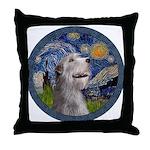 Starry Irish Wolfhound Throw Pillow
