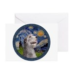 Starry Irish Wolfhound Greeting Cards (Pk of 10)