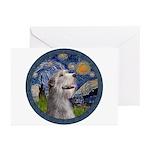 Starry Irish Wolfhound Greeting Cards (Pk of 20)