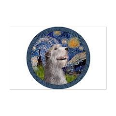 Starry Irish Wolfhound Posters