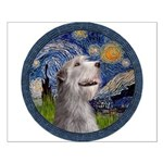 Starry Irish Wolfhound Small Poster