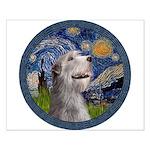 Starry Irish Wolfhound Small Poster