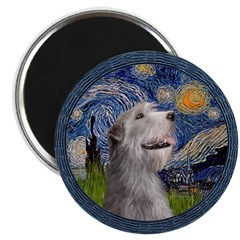 "Starry Irish Wolfhound 2.25"" Magnet (10 pack)"