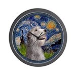 Starry Irish Wolfhound Wall Clock