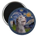 Starry Irish Wolfhound Magnet