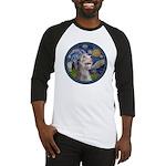 Starry Irish Wolfhound Baseball Jersey