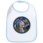 Starry Irish Wolfhound Bib