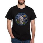 Starry Irish Wolfhound Dark T-Shirt