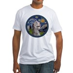 Starry Irish Wolfhound Fitted T-Shirt