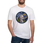 Starry Irish Wolfhound Fitted T-Shirt