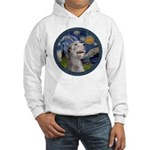 Starry Irish Wolfhound Hooded Sweatshirt
