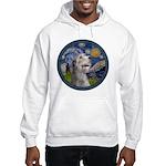Starry Irish Wolfhound Hooded Sweatshirt