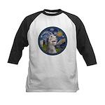 Starry Irish Wolfhound Kids Baseball Jersey